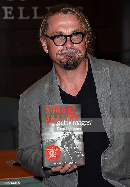 Writer Kurt Sutter signs and discusses 'Sons of Anarchy Bratva' at Barnes Noble bookstore at The Grove on November 15 2014 in Los Angeles California