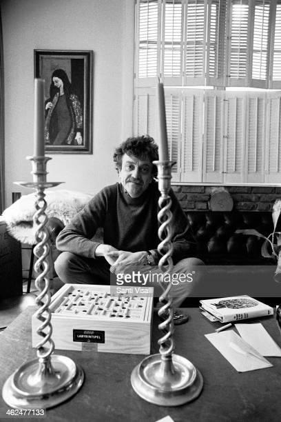 Writer Kurt Vonnegut at home on April 12 1972 in New York New York