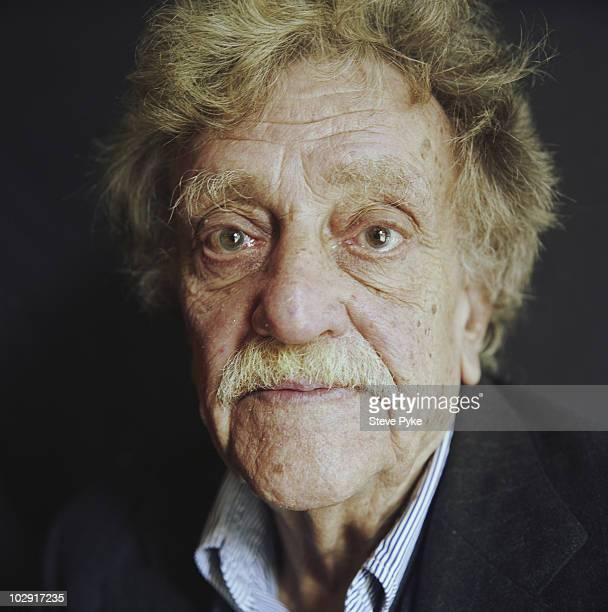 Writer Kurt Vonnegut poses for a portrait shoot in New York USA