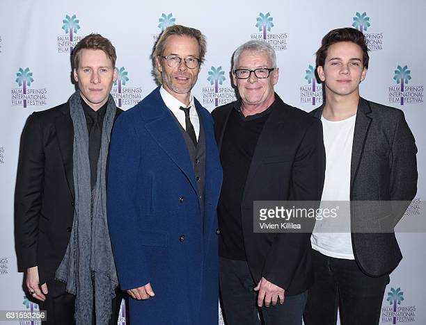 Writer Lance Black actor Guy Pearce activist Cleve Jones and actor Austin McKenzie attend the North American Premiere of 'When We Rise' at the 28th...