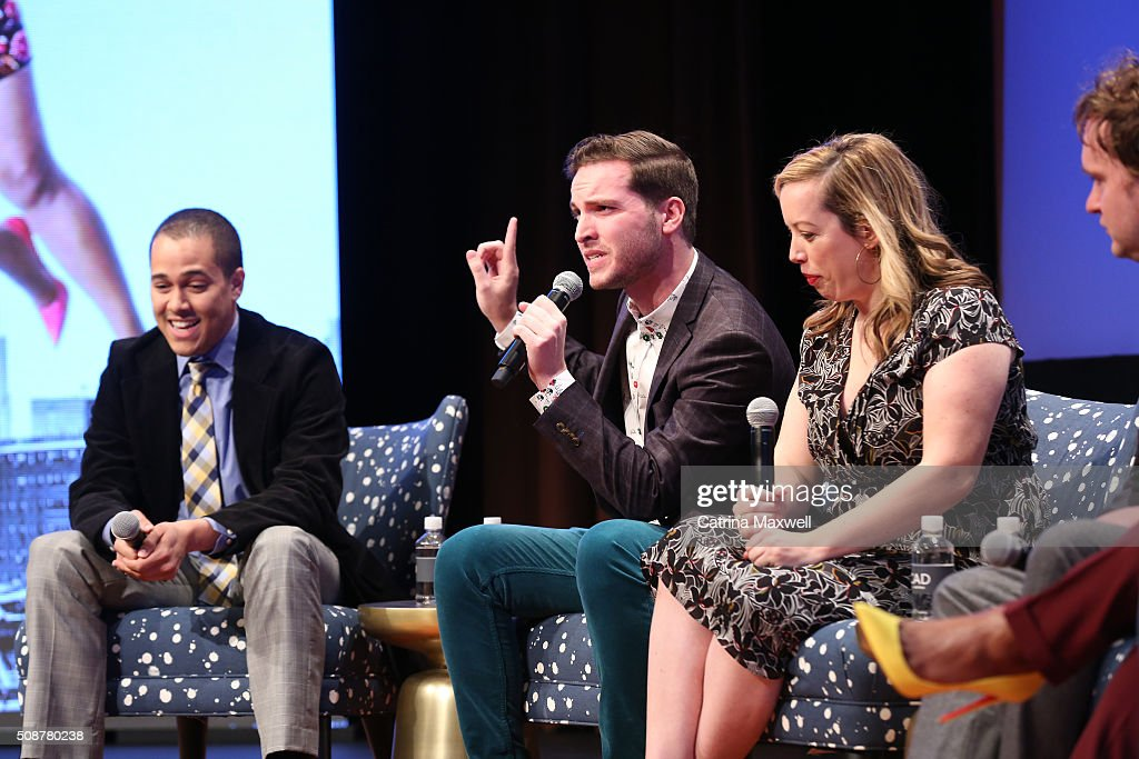 Writer Landon Young, Writer Chris Schleicher, Writer Lang Fisher, and Writer Matt Warburton speak at 'The Mindy Project' event during aTVfest 2016 presented by SCAD on February 6, 2016 in Atlanta, Georgia.