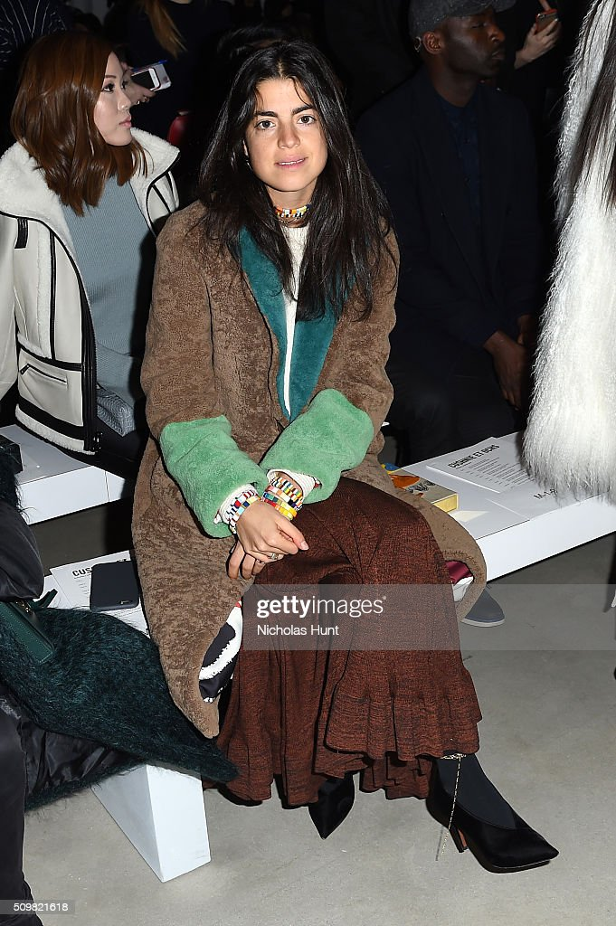 Writer, <a gi-track='captionPersonalityLinkClicked' href=/galleries/search?phrase=Leandra+Medine&family=editorial&specificpeople=7491795 ng-click='$event.stopPropagation()'>Leandra Medine</a>, attends the Cushnie Et Ochs Fall 2016 fashion show during New York Fashion Week: The Shows at The Gallery, Skylight at Clarkson Sq on February 12, 2016 in New York City.