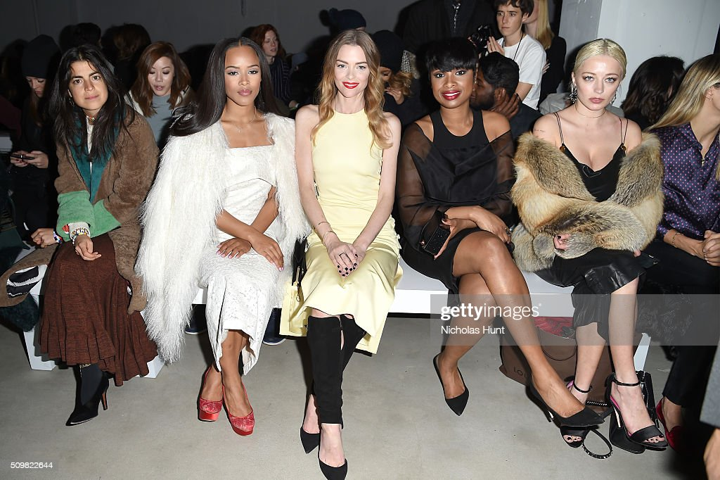 Writer, <a gi-track='captionPersonalityLinkClicked' href=/galleries/search?phrase=Leandra+Medine&family=editorial&specificpeople=7491795 ng-click='$event.stopPropagation()'>Leandra Medine</a>, Serayah Mcneill, Jamie King, <a gi-track='captionPersonalityLinkClicked' href=/galleries/search?phrase=Jennifer+Hudson&family=editorial&specificpeople=234833 ng-click='$event.stopPropagation()'>Jennifer Hudson</a> and Alana Hadid attend the Cushnie Et Ochs Fall 2016 fashion show during New York Fashion Week: The Shows at The Gallery, Skylight at Clarkson Sq on February 12, 2016 in New York City.
