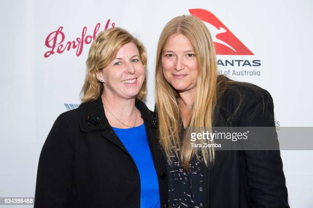 Writer Liane Moriarty and executive producer Bruna Papandrea attend a screening of 'Big Little Lies' hosted by Australians In Film at Harmony Gold on...