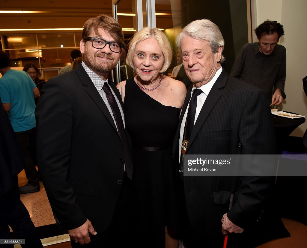 Writer Logan Sparks, actor Pam Sparks, and Joe Sparks attend the after party for the Los Angeles premiere of 'Lucky' at Linwood Dunn Theater on September 26, 2017 in Los Angeles, California.