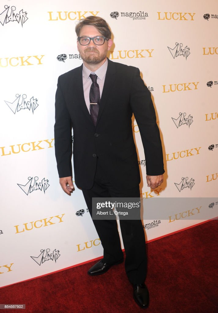 Writer Logan Sparks arrives for the Premiere Of Magnolia Pictures' 'Lucky' held at Linwood Dunn Theater on September 26, 2017 in Los Angeles, California.