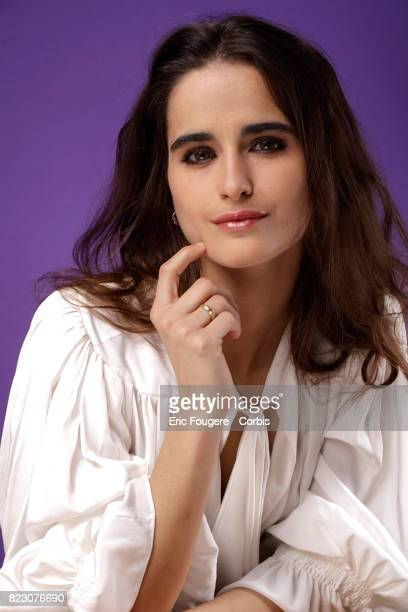 Writer Loulou Robert poses during a portrait session in Paris France on