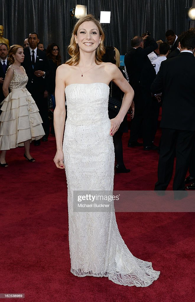 Writer Lucy Alibar arrives at the Oscars at Hollywood Highland Center on February 24 2013 in Hollywood California