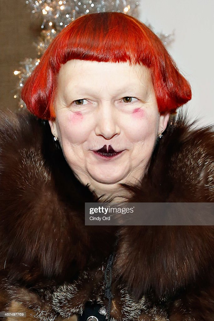 Writer Lynn Yeager attends the 'Tis The Season' annual toy drive hosted by Susanne Bartsch and <a gi-track='captionPersonalityLinkClicked' href=/galleries/search?phrase=David+Barton+-+Body+Builder&family=editorial&specificpeople=4547890 ng-click='$event.stopPropagation()'>David Barton</a> on December 17, 2013 in New York City.