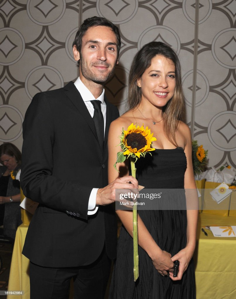 Writer Malik Bendjelloul (L) and guest in the 2013 Writers Guild Awards Backstage Creations Celebrity Retreat on February 17, 2013 in Los Angeles, California.