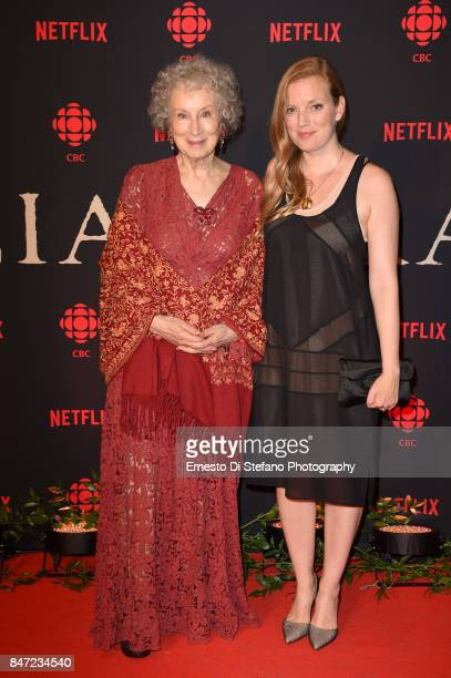 Writer Margaret Atwood and Writer/Producer Sarah Polley attend the 'Alias Grace' TIFF World Premiere Cocktail Reception at Drake OneFifty on...
