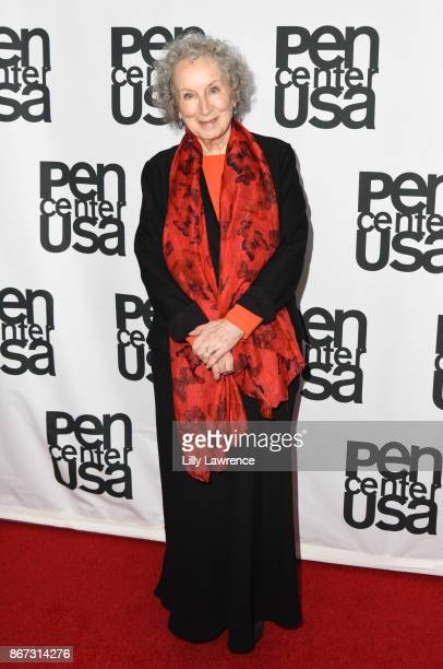 Writer Margaret Atwood arrives at PEN Center USA's 27th Annual Literary Awards Festival on October 27 2017 in Beverly Hills California