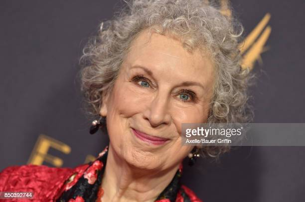 Writer Margaret Atwood arrives at the 69th Annual Primetime Emmy Awards at Microsoft Theater on September 17 2017 in Los Angeles California