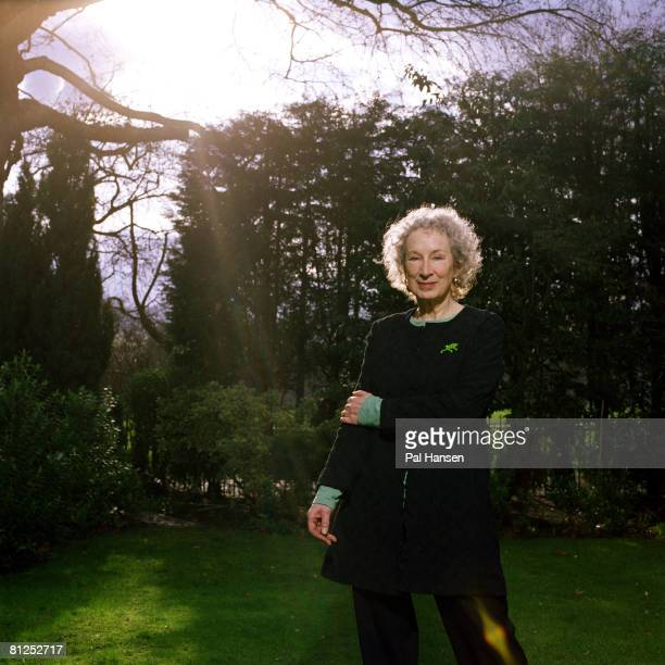 Writer Margaret Atwood poses for a portrait shoot for the Sunday Telegraph in London on March 15 2006
