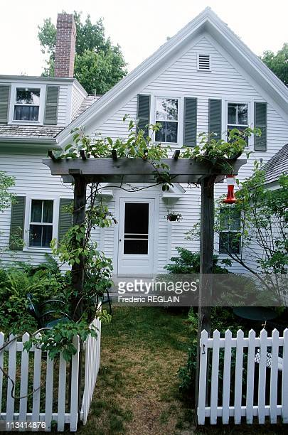 Writer Marguerite Yourcenar's house in Mount Desert Maine On July 1st 1999 In United States