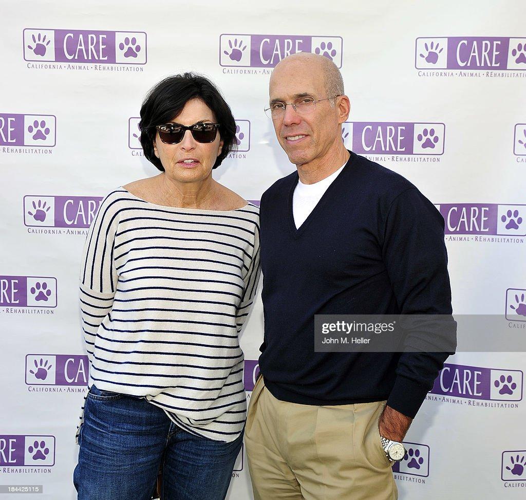 Writer Marilyn Katzenberg, producer/partner SKG Jeffrey Katzenberg attend the grand opening of the California Animal Rehabilitation Center on October 13, 2013 in Los Angeles, California.