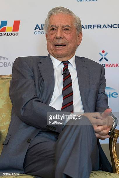 Writer Mario Vargas Llosa attends 'Prix del Dialogo' award 2016 press conference on June 7 2016 in Madrid Spain