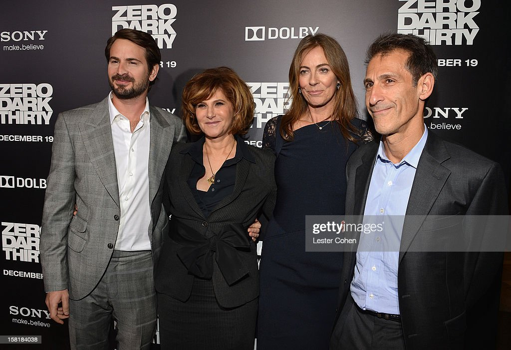 Writer Mark Boal, Amy Pascal, Co-Chairman, Sony Pictures Entertainment, director Kathryn Bigelow, and Michael Lynton, CEO & Chairman, Sony Pictures Entertainment attend the 'Zero Dark Thirty' Los Angeles Premiere at Dolby Theatre on December 10, 2012 in Hollywood, California.