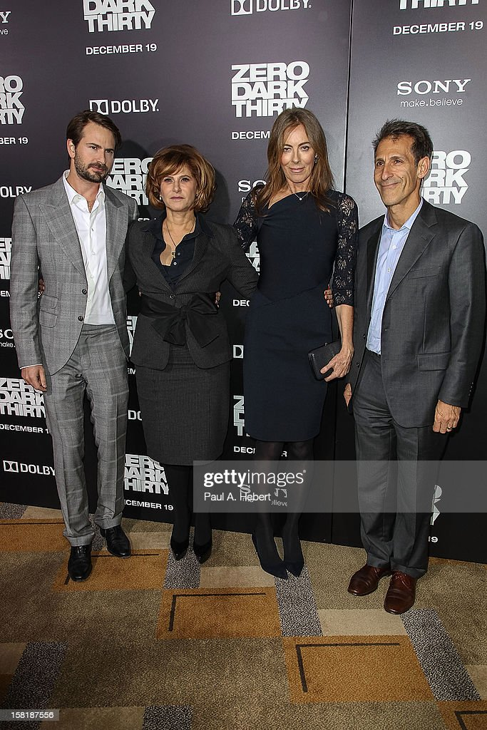 Writer Mark Boal, Amy Pascal, Co-Chairman, Sony Pictures Entertainment, director Kathryn Bigelow, and Michael Lynton, CEO & Chairman, Sony Pictures Entertainment arrives at the premiere of Columbia Pictures' 'Zero Dark Thirty' held at the Dolby Theatre on December 10, 2012 in Hollywood, California.