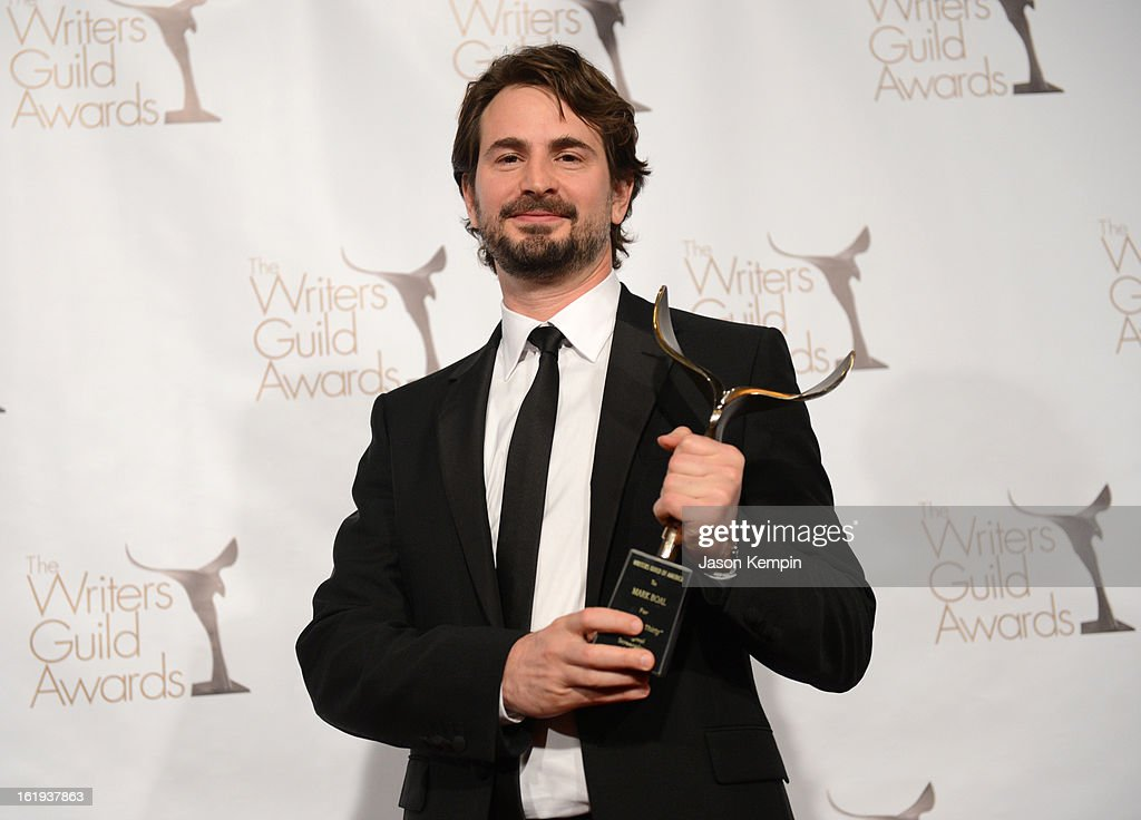 Writer <a gi-track='captionPersonalityLinkClicked' href=/galleries/search?phrase=Mark+Boal&family=editorial&specificpeople=5513306 ng-click='$event.stopPropagation()'>Mark Boal</a>, winner of the Writers Guild Award for Best Original Screenplay poses in the press room during the 2013 WGAw Writers Guild Awards at JW Marriott Los Angeles at L.A. LIVE on February 17, 2013 in Los Angeles, California.
