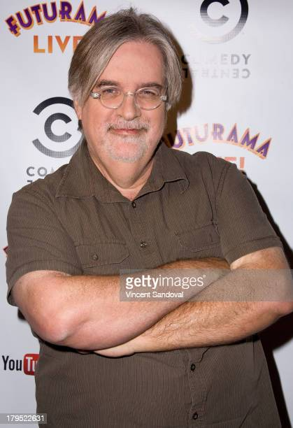 Writer Matt Groening attends the YouTube Space LA special screening of the Futurama series finale at YouTube Space LA on September 4 2013 in Los...