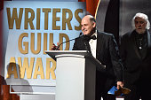 Writer Matthew Weiner accepts the Drama Series award for 'Mad Men' onstage during the 2016 Writers Guild Awards at the Hyatt Regency Century Plaza on...