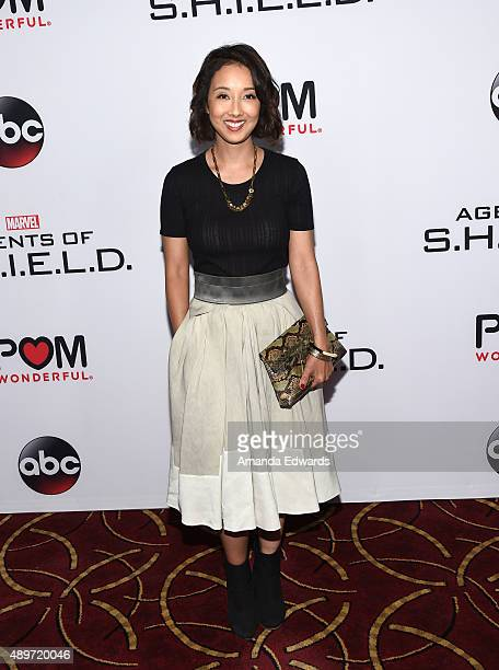 Writer Maurissa Tancharoen arrives at the premiere of Marvel's 'Agents Of SHIELD' at Pacific Theatres at The Grove on September 23 2015 in Los...