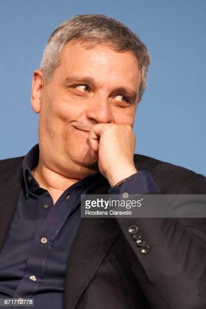 Writer Maurizio De Giovanni attends Tempo Di Libri Book Show on April 22 2017 in Milan Italy