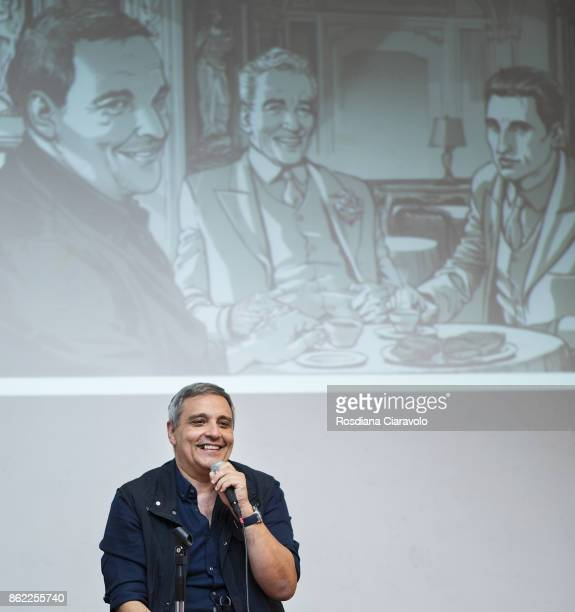 Writer Maurizio De Giovanni talks about Graphic Novel based on Commissario Ricciardi Novel Series by Maurizio De Giovanni on October 16 2017 in Milan...