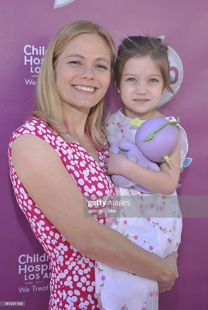Writer Meghan McCarthy and Sophie McCarthy arrive at the My Little Pony Coronation Concert at the Brentwood Theatre on February 9, 2013 in Los Angeles, California.