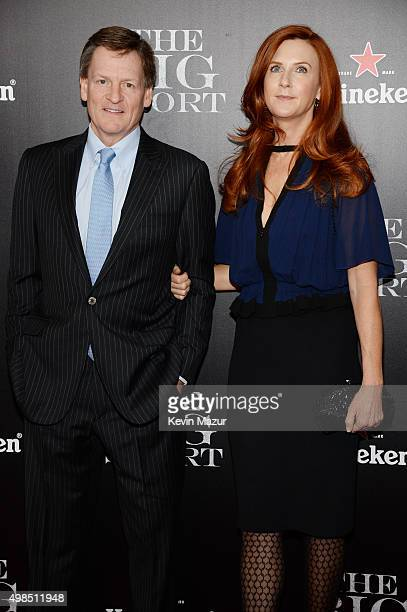 Writer Michael Lewis and photographer Tabitha Soren attend the premiere of 'The Big Short' at Ziegfeld Theatre on November 23 2015 in New York City