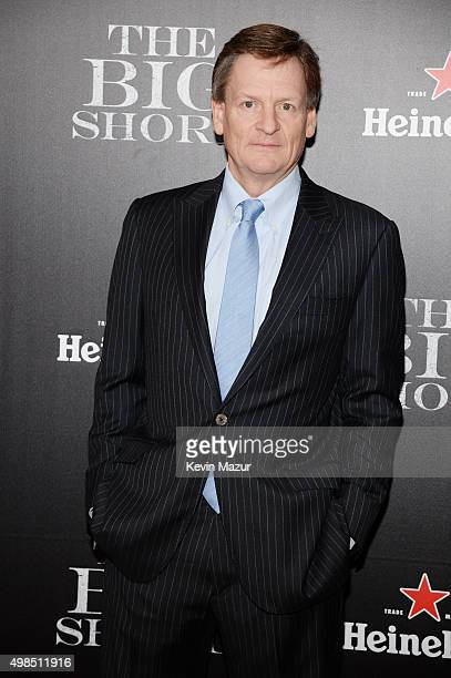 Writer Michael Lewis attends the premiere of 'The Big Short' at Ziegfeld Theatre on November 23 2015 in New York City