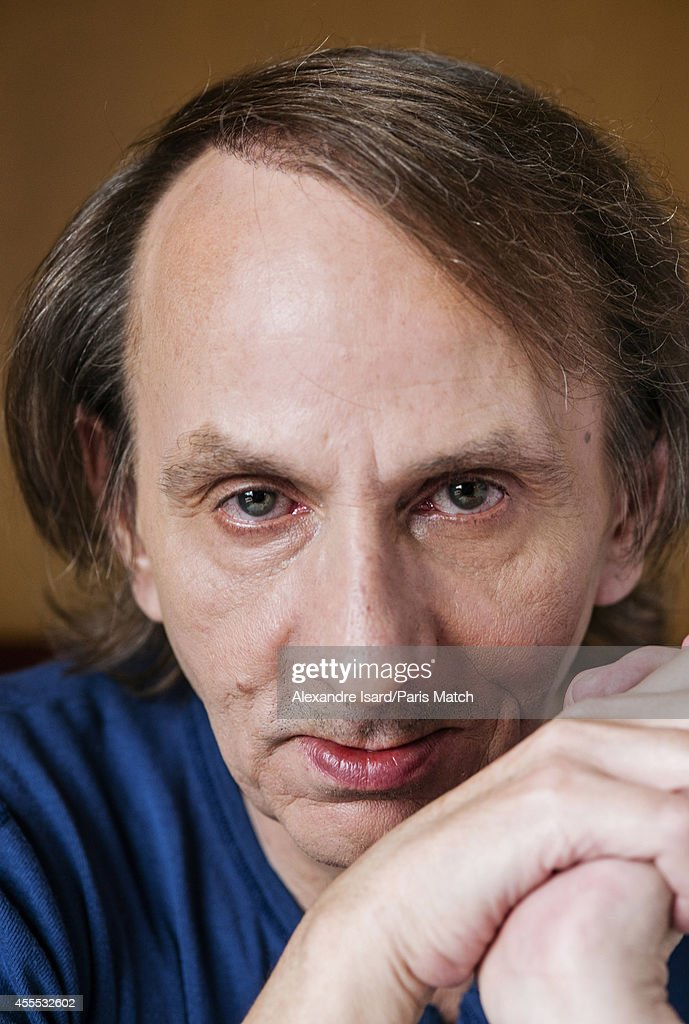 Writer <a gi-track='captionPersonalityLinkClicked' href=/galleries/search?phrase=Michel+Houellebecq&family=editorial&specificpeople=2164957 ng-click='$event.stopPropagation()'>Michel Houellebecq</a> is photographed for Paris Match on August 30, 2014 in Paris, France.