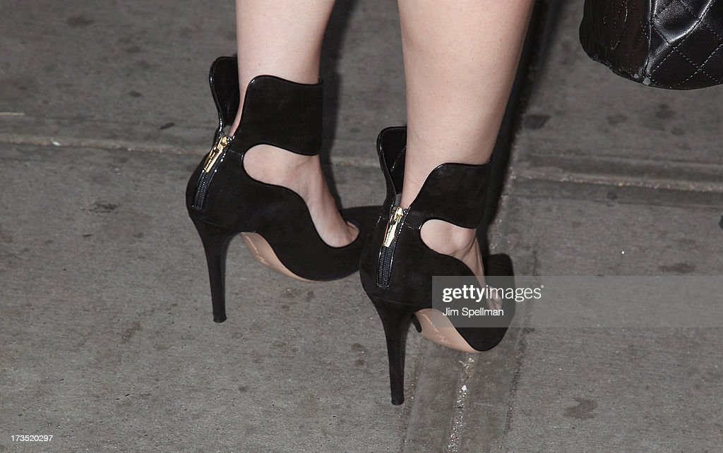 Writer Michelle Morgan (shoe detail) attends the Lionsgate And Roadside Attractions With The Cinema Society Screening Of 'Girl Most Likely' at Landmark's Sunshine Cinema on July 15, 2013 in New York City.