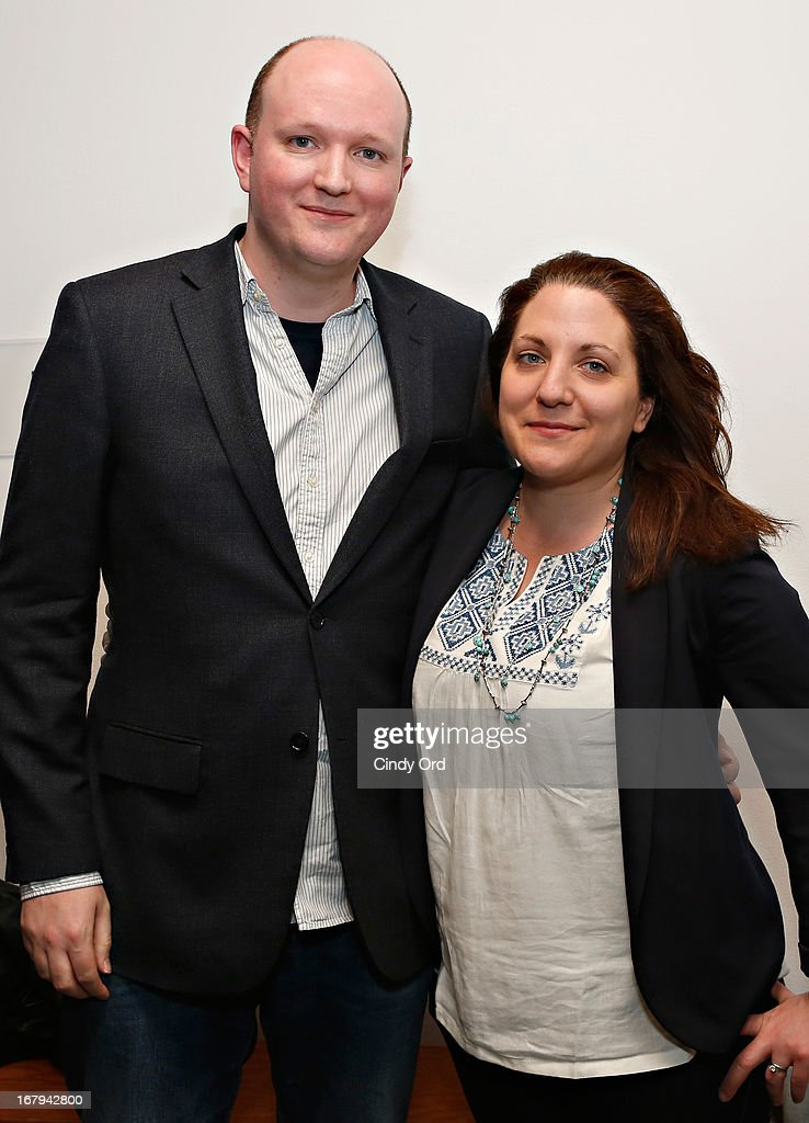 Writer Mike Bartlett and director Clare Lizzimore attend the Opening Night Of The US Premiere Of 'BULL At Brits' Off Broadway After Party at 59E59 Theaters on May 2, 2013 in New York City.