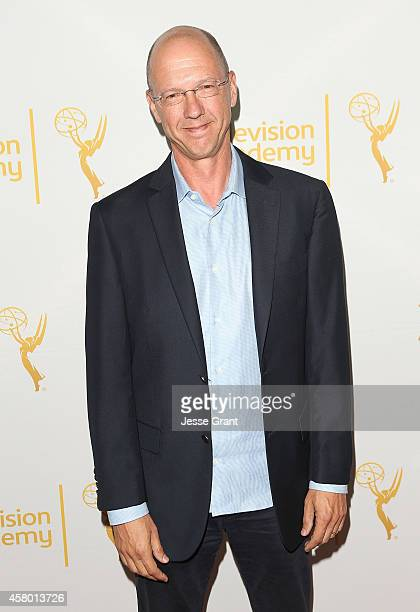 Writer Mike Royce attends The Television Academy Screening of 'Showrunners The Art of Running a TV Show' at the Leonard H Goldenson Theatre on...