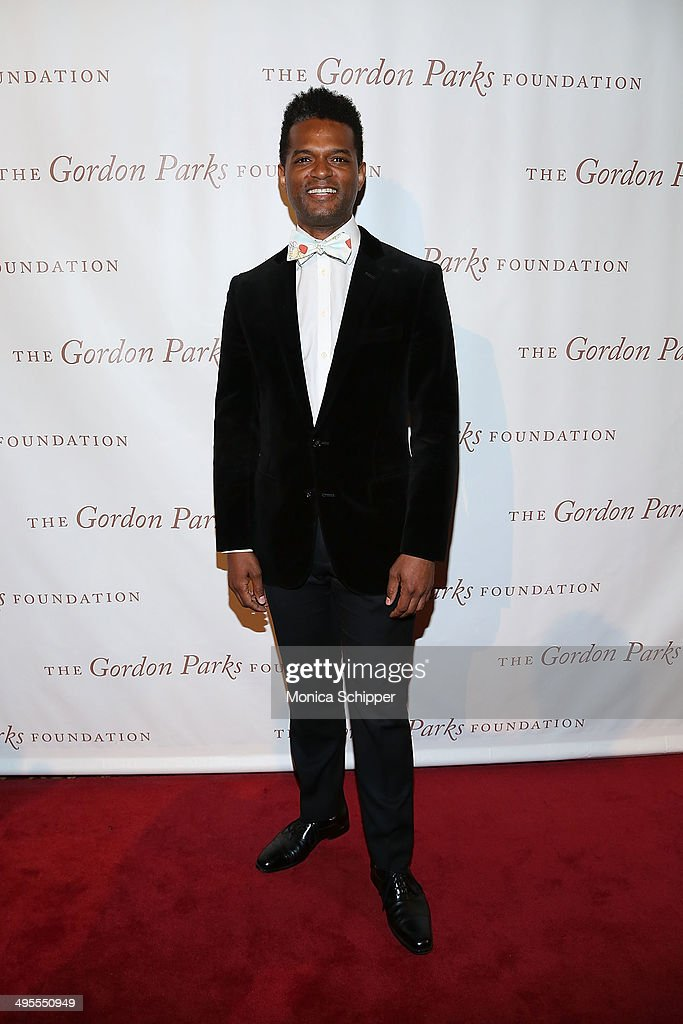 Writer Miles Marshall Lewis attends 2014 Gordon Parks Foundation awards dinner at Cipriani Wall Street on June 3, 2014 in New York City.