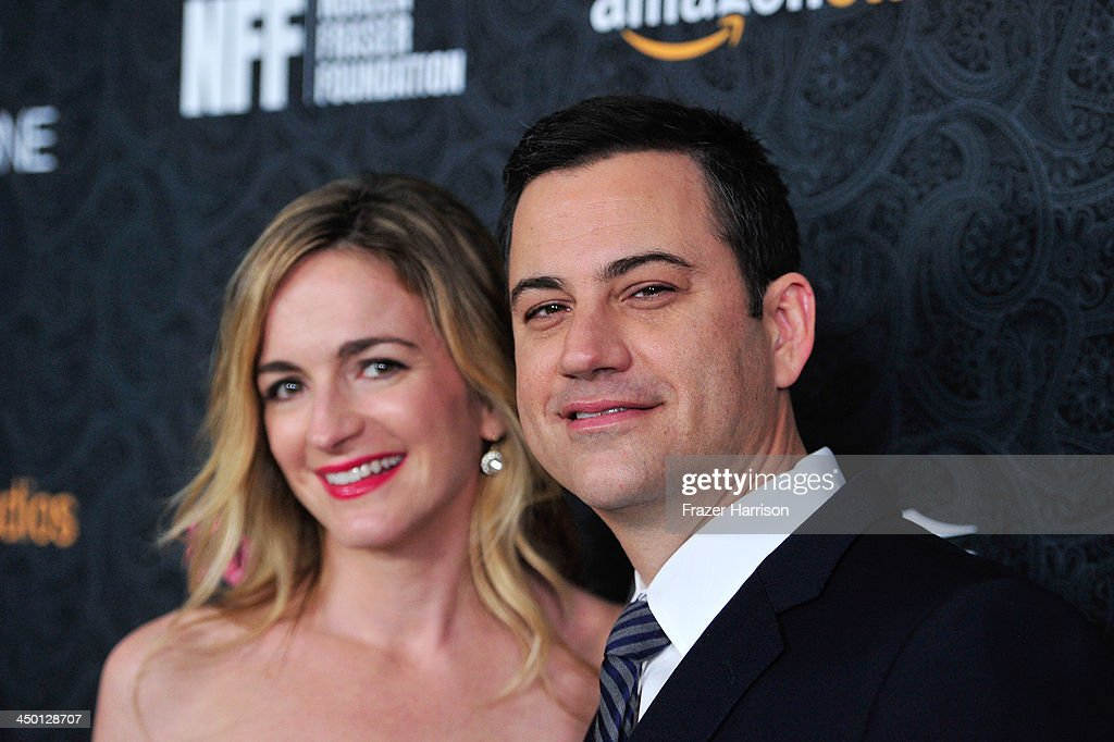 Writer Molly McNearney and TV personality <a gi-track='captionPersonalityLinkClicked' href=/galleries/search?phrase=Jimmy+Kimmel&family=editorial&specificpeople=214115 ng-click='$event.stopPropagation()'>Jimmy Kimmel</a> attend Variety's 4th Annual Power of Comedy presented by Xbox One benefiting the Noreen Fraser Foundation at Avalon on November 16, 2013 in Hollywood, California.