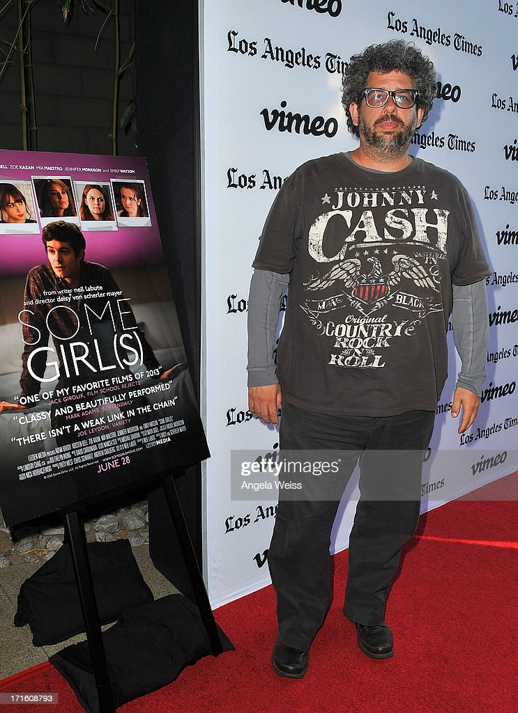 Writer <a gi-track='captionPersonalityLinkClicked' href=/galleries/search?phrase=Neil+LaBute&family=editorial&specificpeople=2980313 ng-click='$event.stopPropagation()'>Neil LaBute</a> arrives at the premiere of 'Some Girl(s)' at Laemmle NoHo 7 on June 26, 2013 in North Hollywood, California.