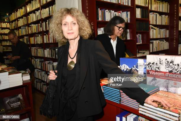 Writer Noelle Chatelet attends 'Le Pays ou Je Suis Nee' Francoise Sagan Book Launch at Ecume des Pages on October 19 2017 in Paris France Ê