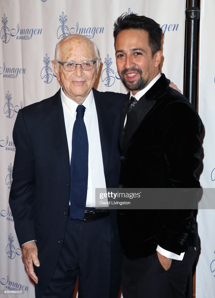 Writer Norman Lear (L) and actor Lin-Manuel Miranda attend the 32nd Annual Imagen Awards at the Beverly Wilshire Four Seasons Hotel on August 18, 2017 in Beverly Hills, California.