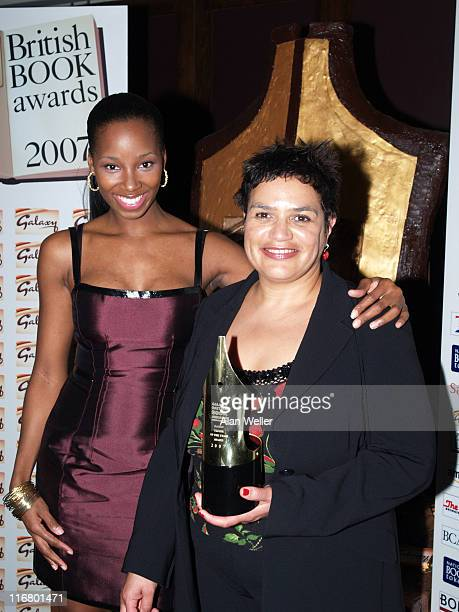 Writer of the Year Jackie Kay with Jamelia during 2007 Galaxy British Book Awards Pressroom at Grosvenor House in London Great Britain