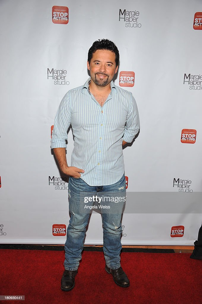 Writer Oscar Torres arrives at Margie Haber Studio's 'Stop Acting App: The Audition Class with Margie Haber' release launch party at Aventine Hollywood on September 17, 2013 in Hollywood, California.