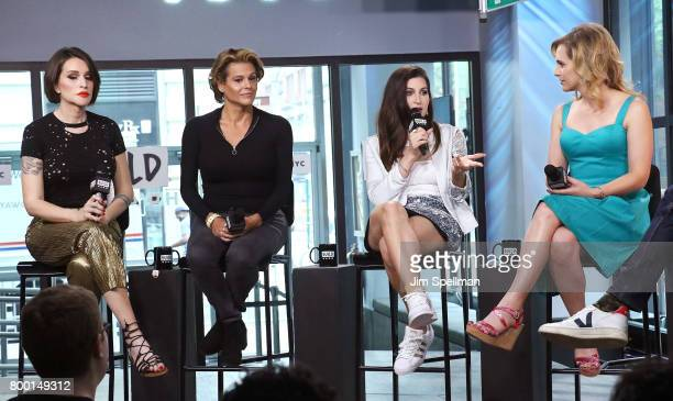 Writer Our Lady J actors Alexandra Billings Trace Lysette and Zackary Drucker attend Build to discuss 'Transparent' at Build Studio on June 23 2017...