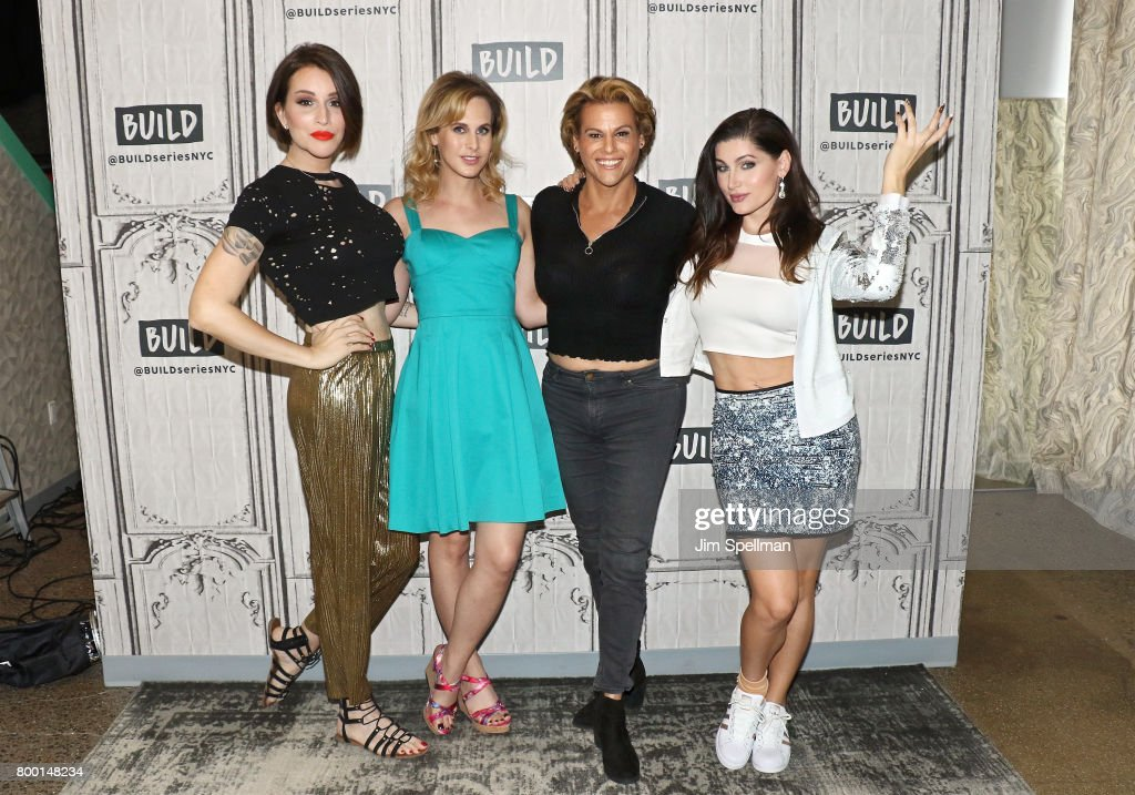 Writer Our Lady J, actors Zackary Drucker, Alexandra Billings and Trace Lysette attend Build to discuss 'Transparent' at Build Studio on June 23, 2017 in New York City.