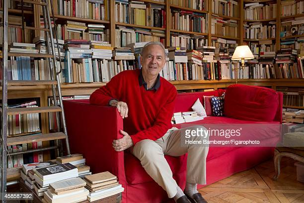 Writer Patrick Modiano is photographed for Le Figaro Magazine on September 14 2012 in Paris France CREDIT MUST READ Helene...