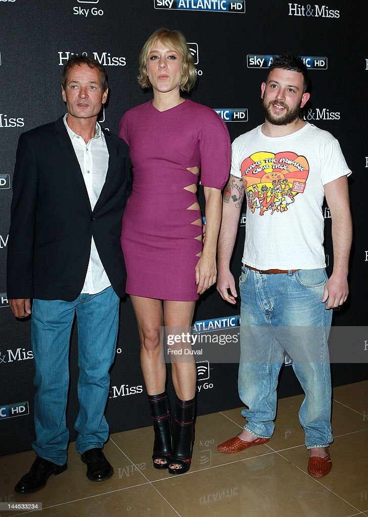 Writer Paul Abbott actress Chloe Sevigny and writer Sean Conway attend the 'Hit And Miss' special screening at The Mayfair Hotel on May 15 2012 in...