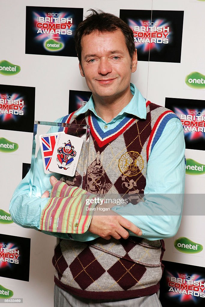 Writer Paul Abbott poses with the award for Best TV Comedy Drama for 'Shameless' at the British Comedy Awards 2005 at London Television Studios...