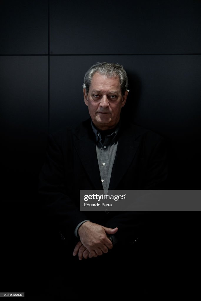 Writer Paul Auster attends a portarit session befeore the '4, 3, 2, 1' book presentation at Telefonica Foundation on September 4, 2017 in Madrid, Spain.