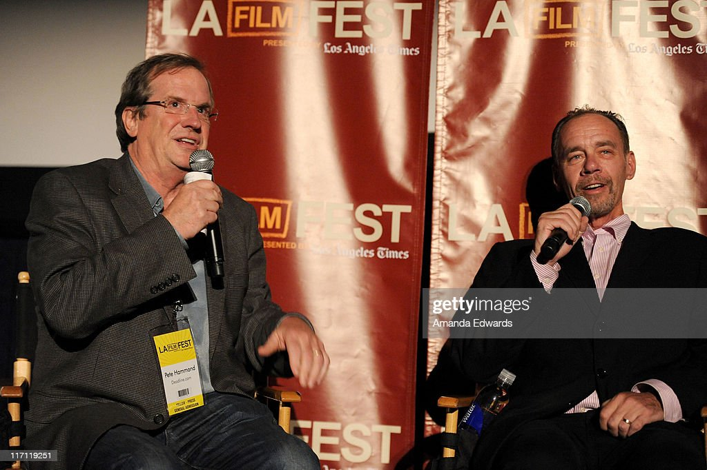 Writer Pete Hammond and New York Times columnist David Carr attend the 'Page One Inside the New York Times' Q A during the 2011 Los Angeles Film...